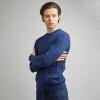синий мужской джемпер с косами